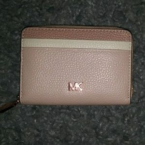 Michael Kors Tricolor Zip-Around Coin/Card Wallet